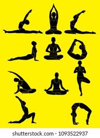 yoga silhouette ilustration
