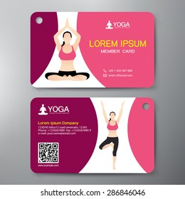 Yoga and Sport Card Design Template. Vector illustration