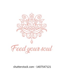 Yoga t shirt design illustration, Feed your soul Typographic design for t shirt and apparel - Illustration
