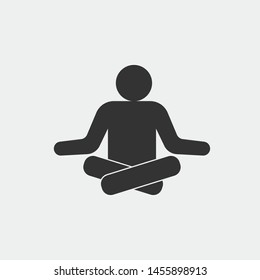 Yoga vector icon illustration sign
