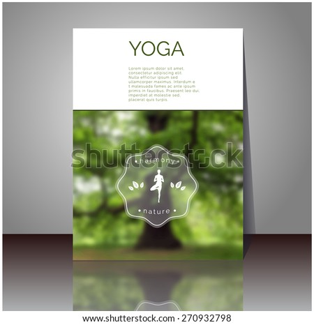 yoga vector poster professional flyer template stock vector royalty