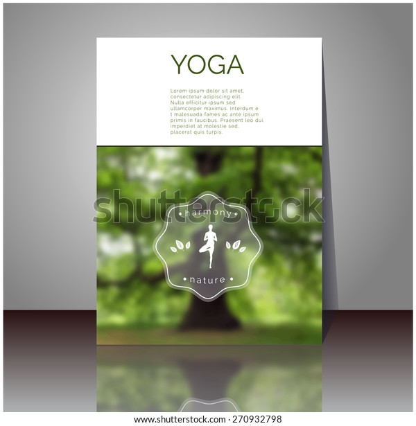 Yoga Vector Poster Professional Flyer Template Stock Vector Royalty Free 270932798