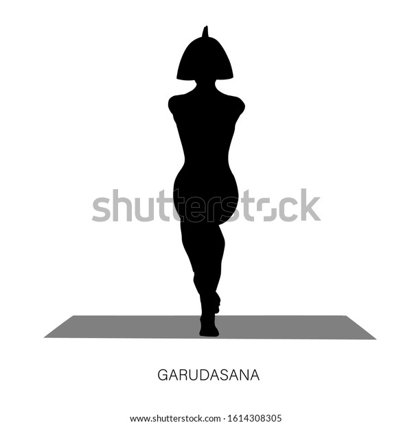 Yogi Woman Garudasana Eagle Yoga Pose Stock Vector Royalty Free 1614308305