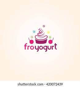 Yogurt logo , Ice cream logo