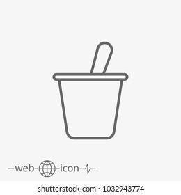 yogurt vector icon
