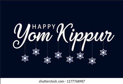 Yom kippur card or background. vector illustration.