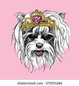 Yorkie Pet Puppy Vector Images Stock Photos Vectors Shutterstock