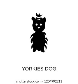 YORKIES dog icon. YORKIES dog symbol design from Dogs collection. Simple element vector illustration on white background.