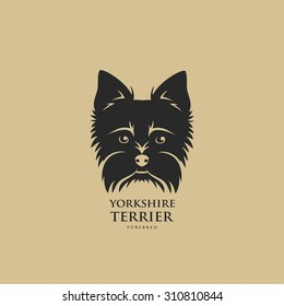 Yorkshire terrier symbol - vector illustration