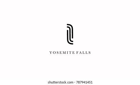 Yosemite Waterfalls Logo Icon