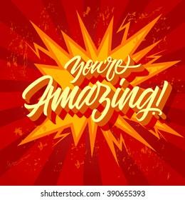 You are Amazing Inscription 6