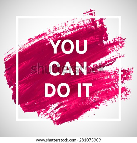 You Can Do Motivation Square Acrylic Stockvector Rechtenvrij