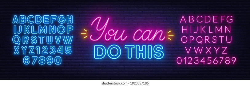 Neon Blue Quotes Images Stock Photos Vectors Shutterstock Wallpapercave is an online community of desktop wallpapers enthusiasts. https www shutterstock com image vector you can do this neon quote 1923557186