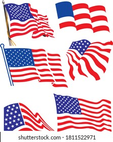 you can download this United state of America Flag for your vector needs. Isolated design from background. fully editable .eps file.