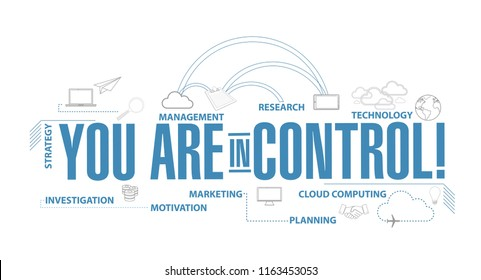 you are in control diagram plan concept isolated over a white background
