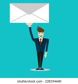 you have got mail. new massage. vector