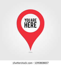 You Are Here Location Pointer Pin