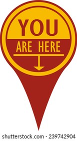 You Are Here Pin, Concave