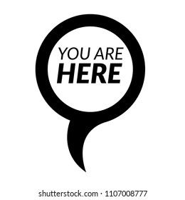 you here icon stock vector royalty free 270445346 shutterstock