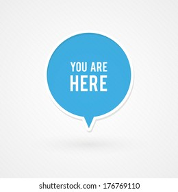 You are here sign
