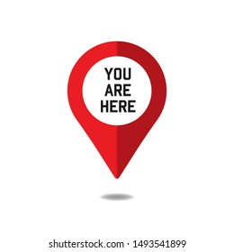 You are here sign icon. vector illustration