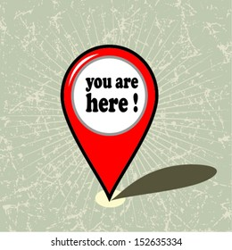 You are here vector design
