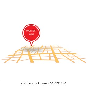 You are here vector design isolated on white background