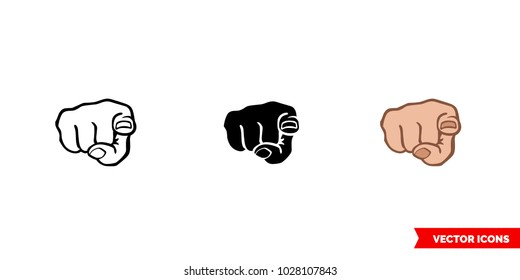 You icon of 3 types: color, black and white, outline. Isolated vector sign symbol.