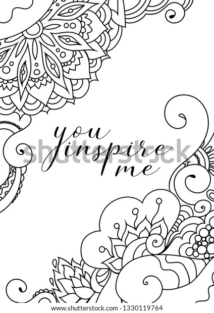 You Inspire Me Quote On Zentangle Stock Vector (Royalty Free ...