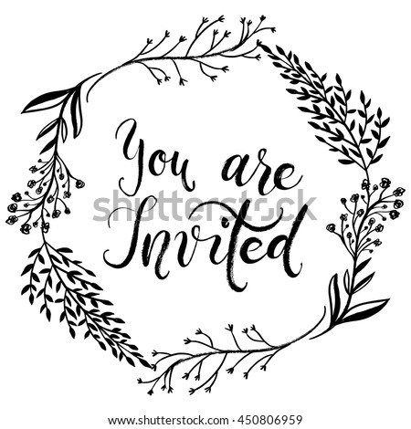 you are invited card