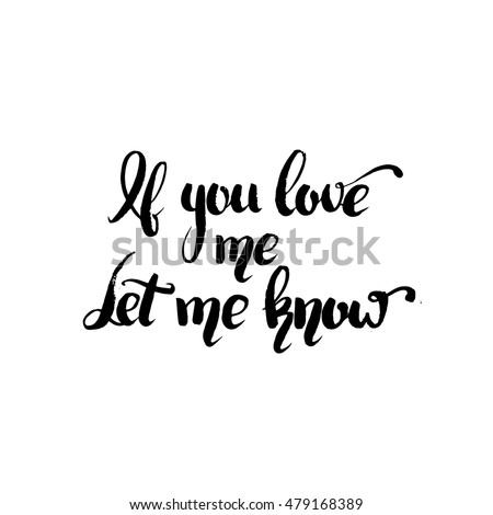 Let Me Love You Quote Print Black /& White
