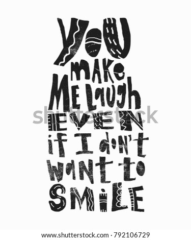 You Make Me Laugh Even Dont Stock Vector Royalty Free 60 Impressive You Make Me Laugh When I Dont Even Want To Smile