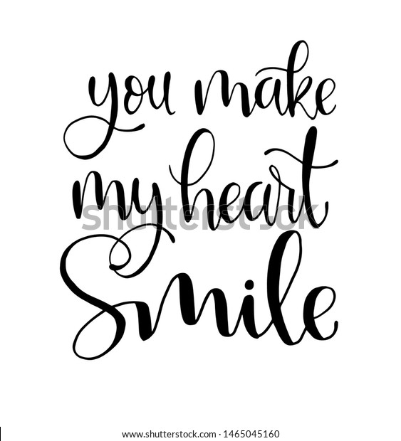 You Make My Heart Smile Hand Stock Vector (Royalty Free ...