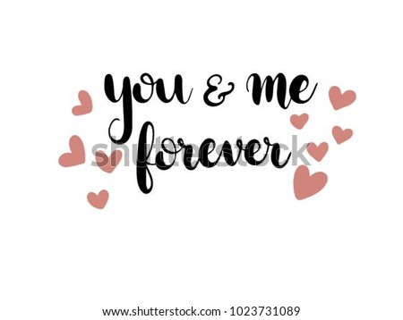 You Me Forever Calligraphy Han...
