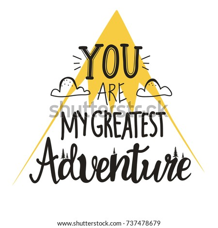 You My Greatest Adventure Romantic Vector Stock Vector Royalty Free