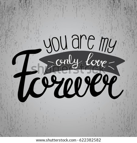 You My Only Love Forever Vector Stock Vector Royalty Free