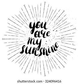You Are My Sunshine Images Stock Photos Vectors Shutterstock