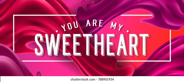 You Are My Sweetheart Lettering in Frame