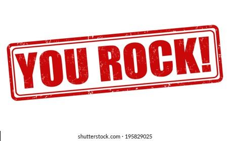 You rock grunge rubber stamp on white background, vector illustration