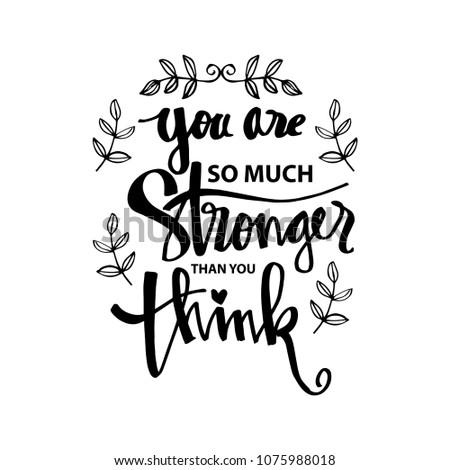 You Stronger Than You Think Motivational Stockvector Rechtenvrij