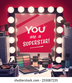 You are a superstar! Vector illustration.
