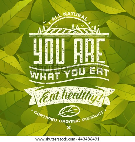 You What You Eat Eat Healthy Stock Vector Royalty Free 443486491