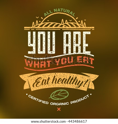 You What You Eat Eat Healthy Stock Vector Royalty Free 443486617