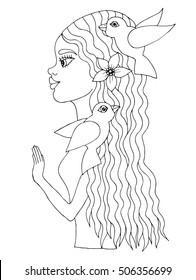 African Woman Coloring Page Images Stock Photos Vectors Shutterstock