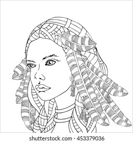 1000 African Women Coloring Pages Stock Images Photos Vectors