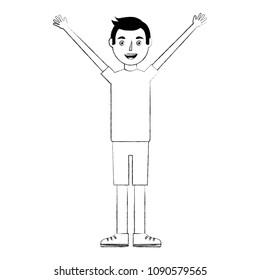young boy celebratring avatar