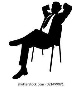 Young businessman relaxing