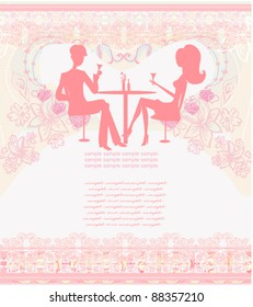 Romantic Candle Light Dinner Stock Vectors Images Vector