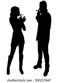 young couple smoking cigar