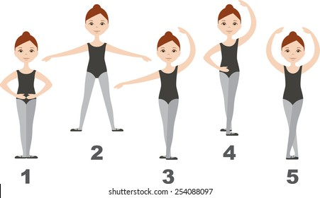 ballet position images  stock photos   vectors shutterstock Dancer Silhouette Clip Art Bing Cartoon Clip Art Lovers